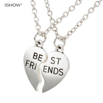 New collier choker necklace heart pendant pieces broken two best friend friendship forever women necklace jewelry collares mujer
