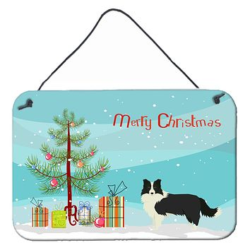 Border Collie Christmas Tree Wall or Door Hanging Prints CK3522DS812