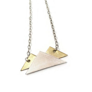 Mountain Necklace in Silver and Brass