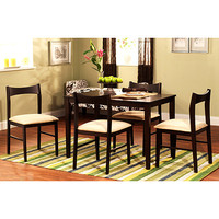 Walmart: Contemporary 5-Piece Dining Set, Espresso