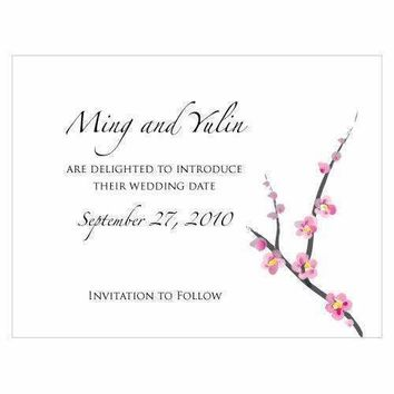 Cherry Blossom Save The Date Card (Pack of 1)