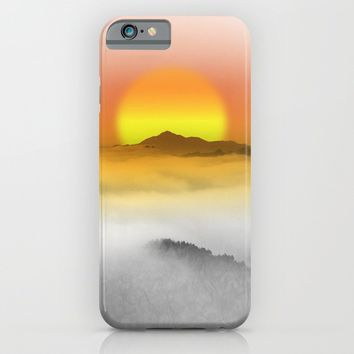 Distant Sunset iPhone & iPod Case by Texnotropio