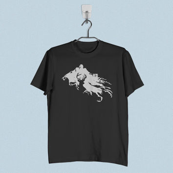 Men T-Shirt - Harry Potter Stag Patronus and Dementor
