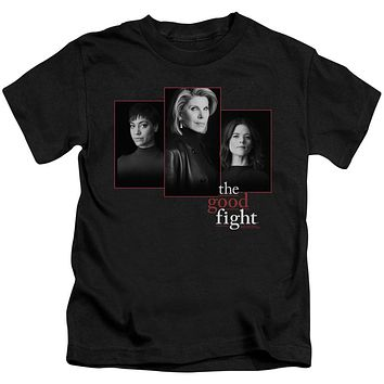 The Good Fight Boys T-Shirt Cast Headshots Black Tee