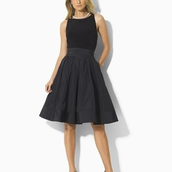 Lauren by Ralph Lauren Dress, Pleated Cocktail Dress - Womens Dresses - Macy's