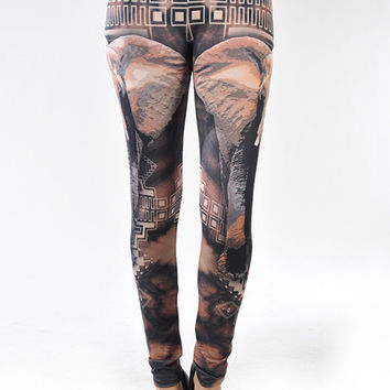 Elephant Tribal Leggings