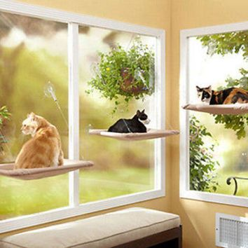Cat Hammock Window Mounted Bed Sofa Mat Cushion Hanging Shelf Seat with Suction
