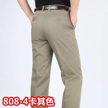 Summer style thin men's casual Business leisure trousers