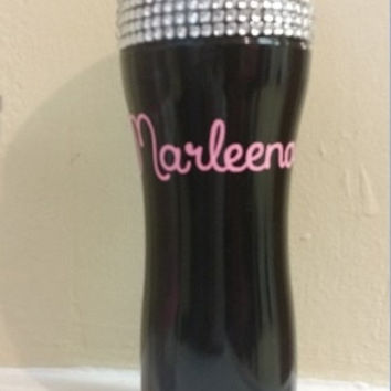 Bling Sparkle Personalized Coffee Mug, Sparkle Custom Coffee Thermos, Custom Travel Mugs, Custom Hot Liquid To Go Cup
