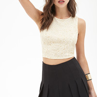 Glitter Paisley Crop Top