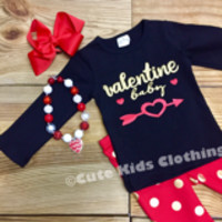 Valentine Baby Polka Dot Outfit