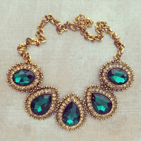 EMERALDS IN BYZANTINE NECKLACE