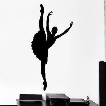 Wall Vinyl Sticker Decal Ballerina Gymnastic Dance Dancing Studio  Unique Gift (z3032)