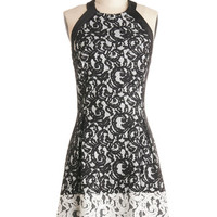 ModCloth Mid-length Halter A-line Dauntless Dance Steps Dress