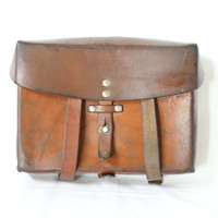 SWISS ARMY BAG 1987, Military Saddle Leather, Cognac Tan, Man Bag, Map Holder, Men's Crossover Messenger Fishing Bag from Switzerland