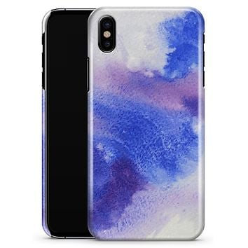 Blue and Pink Watercolor Spill - iPhone X Clipit Case