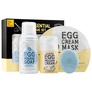 Sephora: Too Cool For School : Egg-ssential Skincare Set : skin-care-sets-travel-value