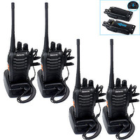 4xRetevis H777 Walkie Talkie UHF400-470MH 16CH 5W CTCSS/DCS 2-Way Radio US Stock