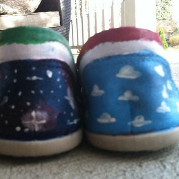 Hand painted Shoes Toy Story Design