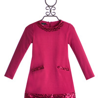 Biscotti Girls Holiday Party Dress in Fuchsia