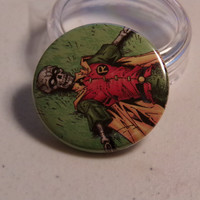 "Comic Book 1.5"" Button// Robin (Jason Todd) Skeleton"