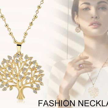 Long Necklaces Tree Of Life Pendants Silver & Gold Plated