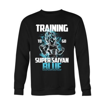 Super Saiyan - Vegeta God Blue Training - Holiday Special Sweatshirt T Shirt - TL00880SW