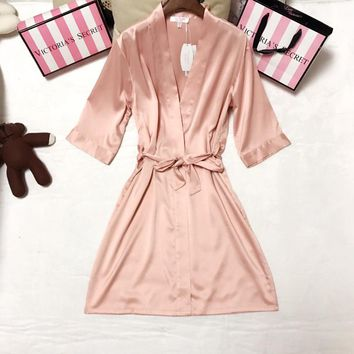 Victoria's Secret Women Fashion Casual Robe Sleepwear Loungewear