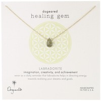 "Dogeared ""Lasting Healing Gems"" Labradorite Pendant Necklace"