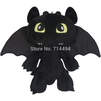 30cm 2014 Hot  Toys How To Train Your Dragon 2 Plush Toy Toothless Dragon Stuffed Animal