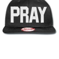 PRAY EMBROIDERY HAT - New Era Flat Bill Snapback Cap