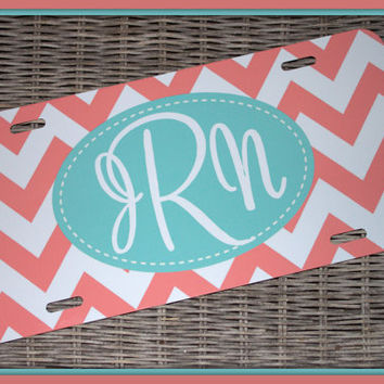 Personalized Monogrammed License Plate Car Tag by ChicMonogram