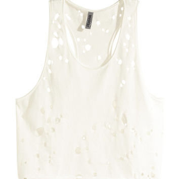 H&M Hole-patterned Top $17.95