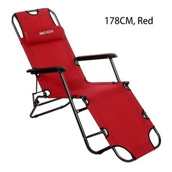 Homdox Outdoor Furniture 178cm Desk Chair Longer Leisure Folding Beach Chair Stool Sling Recliner Camping Chairs Bed #30-20