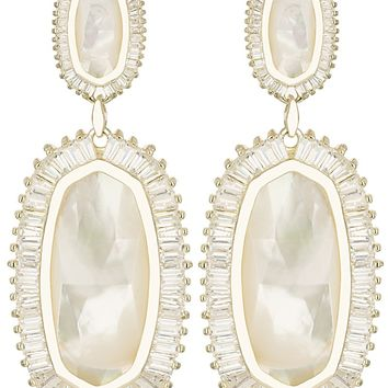 Kaki Baguette Earrings in Ivory Pearl - Kendra Scott Jewelry