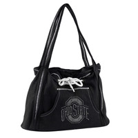 Ohio State Buckeyes Black Hoodie Purse with Rhinestone Logo