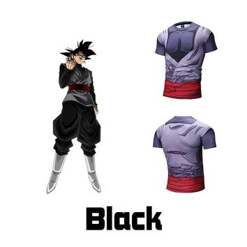 Cool Attack on Titan Dragon Ball Z  T-shirts Men's Summer 3D Print Super Saiyan Goku Black Vegeta Trunks Broli Corset T Shirt Tops AT_90_11