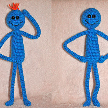 Mr Meeseeks amigurumi toy Rick and Morty