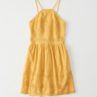 Womens Eyelet Skater Dress | Womens New Arrivals | Abercrombie.com
