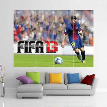 Fifa 13 Lionel Messi Giant Wall Art Picture Poster