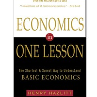 Henry Hazlitt Economics in One Lesson Paperback Book