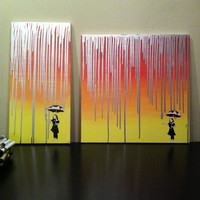 Banksy style acrylic painting on Canvas