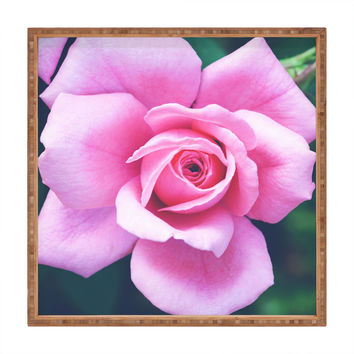 Allyson Johnson Darling Pink Rose Square Tray