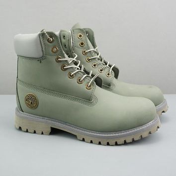 Timberland Leather Lace-Up Icon Premium Boot High Cambridge blue