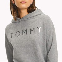PEAPON ' Tommy Hilfiger '' Silver Logo Women Fashion Pullover Hoodie