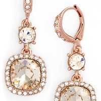Women's Givenchy 'Legacy' Drop Earrings - Rose Gold/ Silk/ Crystal