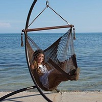 Chair Footrest Hammock Caribbean Inch Polyester Soft  Stand Hanging Swing Foot