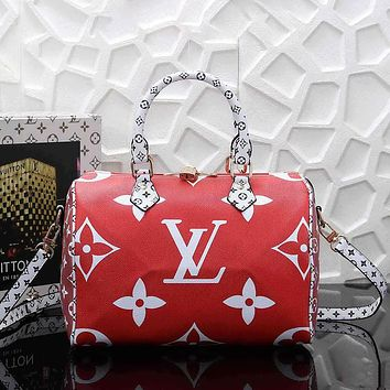 Louis Vuitton LV Women Fashion Leather Handbag Tote Satchel Travel Bag