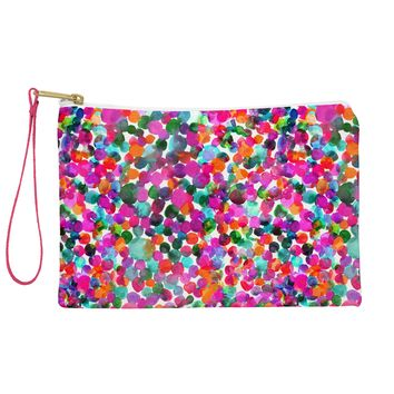 Joy Laforme Watercolor Polka Dot I Pouch