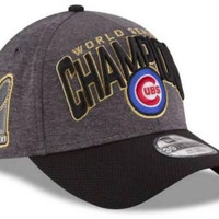 Chicago Cubs New Era 2016 MLB World Series Champions Locker Room Flex Hat Cap Champs - Free Shipping